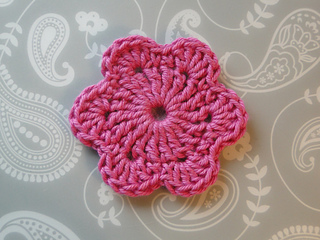 Crochet 6 Petal Flower Pattern