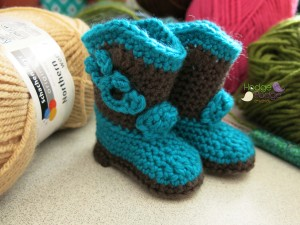 Crochet Baby Booties Cowboy Boots Pattern Free