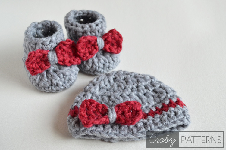 Crochet Baby Booties With Super Bulky Yarn