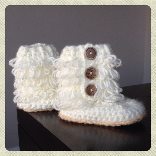 Crochet Baby Loopy Boots