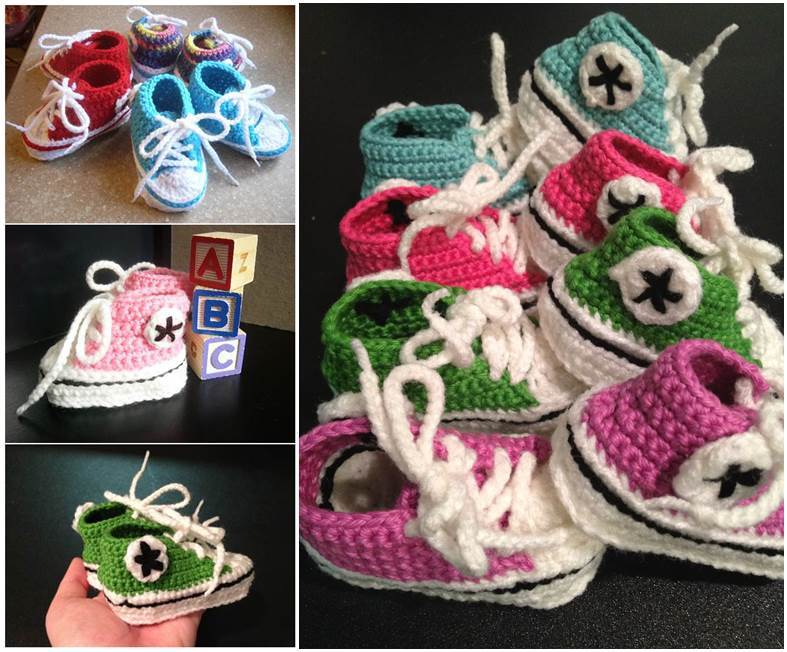 Crochet Converse Baby Booties Pattern
