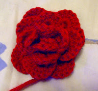 Crochet Flower Brooch Free Pattern