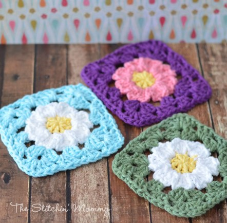 Crochet Flower Squares Free Patterns Tutorial