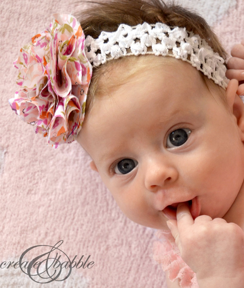 Crochet Headband With Flower For Baby