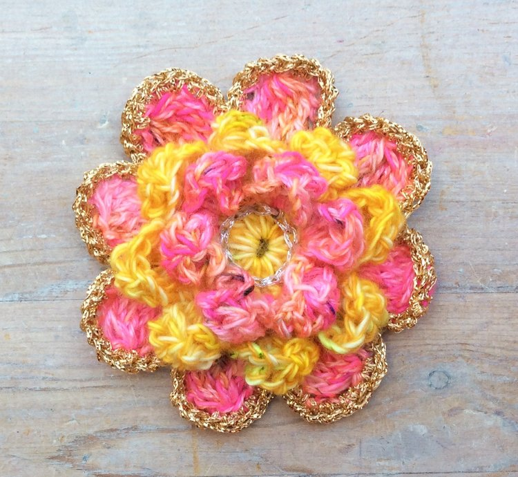 Crochet Peony Flower Pattern Step By Step Tutorial