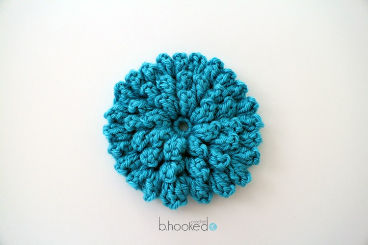 Crochet Popcorn Stitch Flower Design