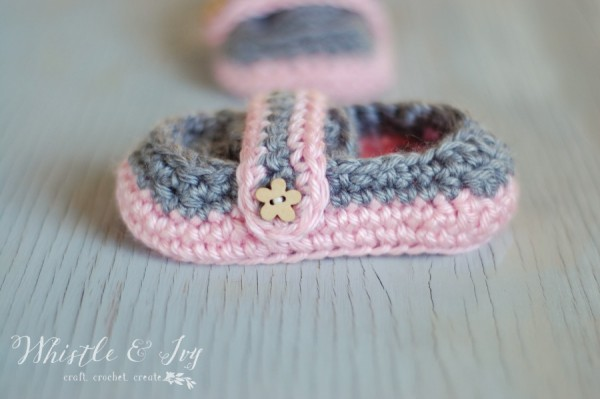 Cute Crochet Baby Booties Loafers