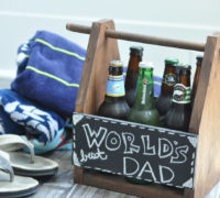 DIY Dad Beer Caddy