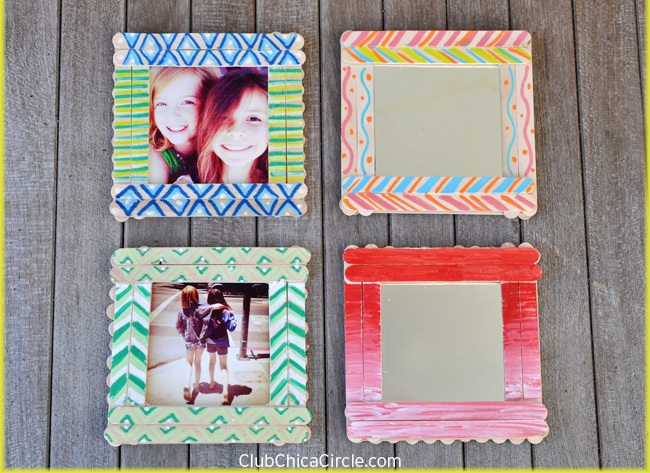 DIY Easy Popsicle Stick Frames Tutorial
