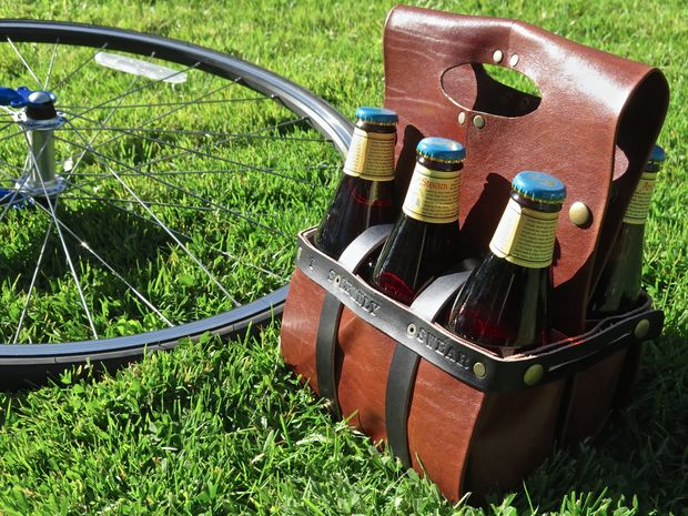 DIY Leather Beer Caddy