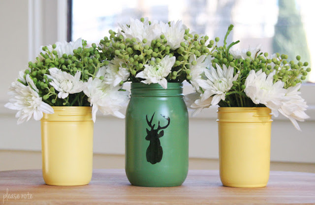 DIY Mason Jar Christmas Flower Arrangements