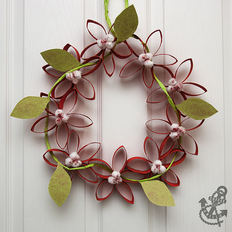 DIY Toilet Paper Roll Wreath Craft