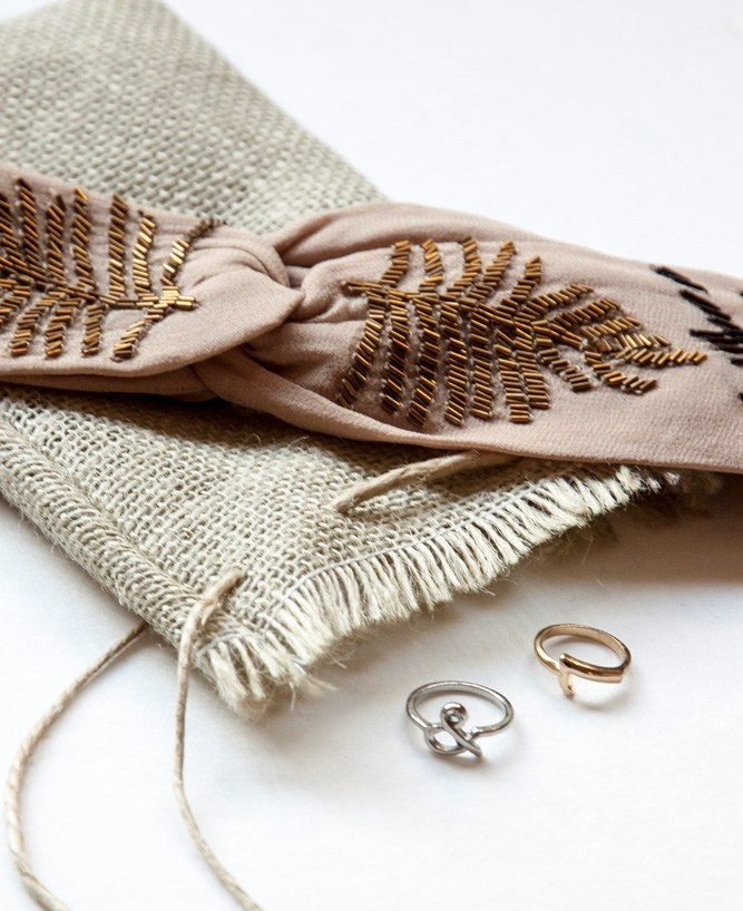 Decorated Burlap Gift Bags and Pouch