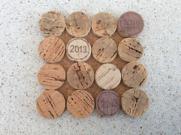 Flat Wine Cork Coasters Ideas