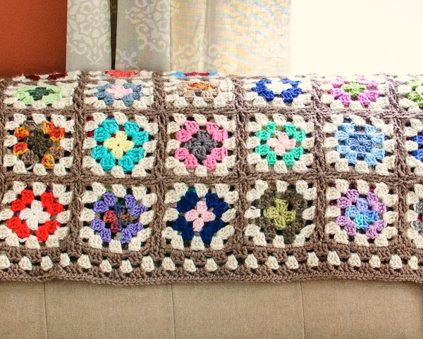 Granny Square Afghan Crochet Pattern