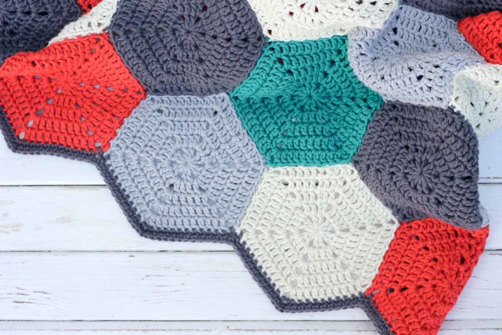 Hexagon Crochet Pattern Afghan