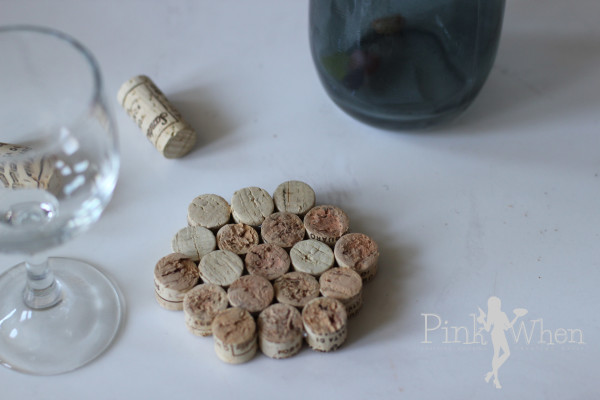 Honeycomb Wine Cork Coasters Tutorial