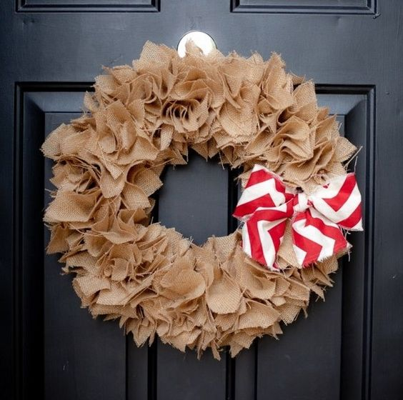 How To Make A Burlap Wreath With A Foam Wreath