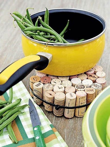 Round Wine Cork Coasters
