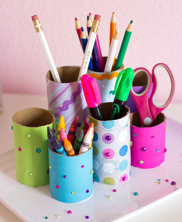 How to Make Toilet Paper Roll Crafts Pencil Holder