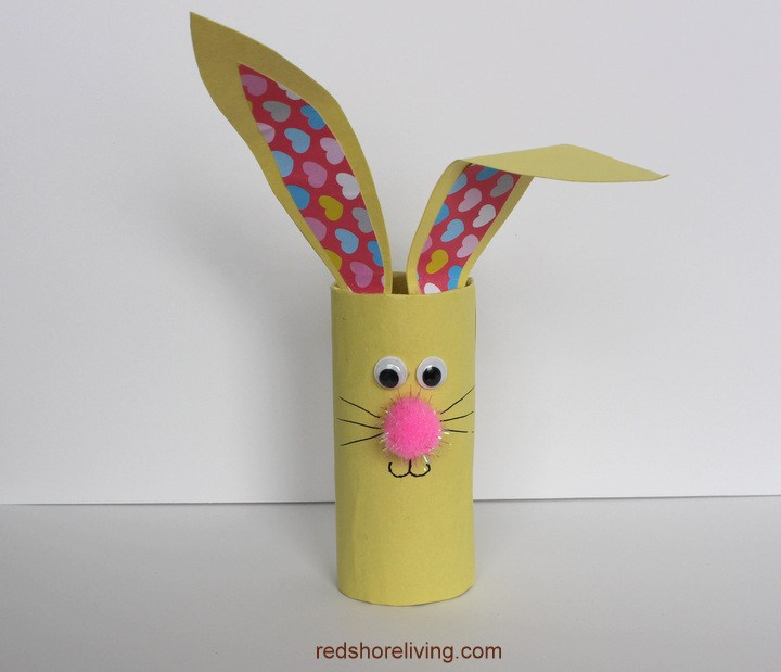 How to make Bunny Toilet Paper Roll Craft