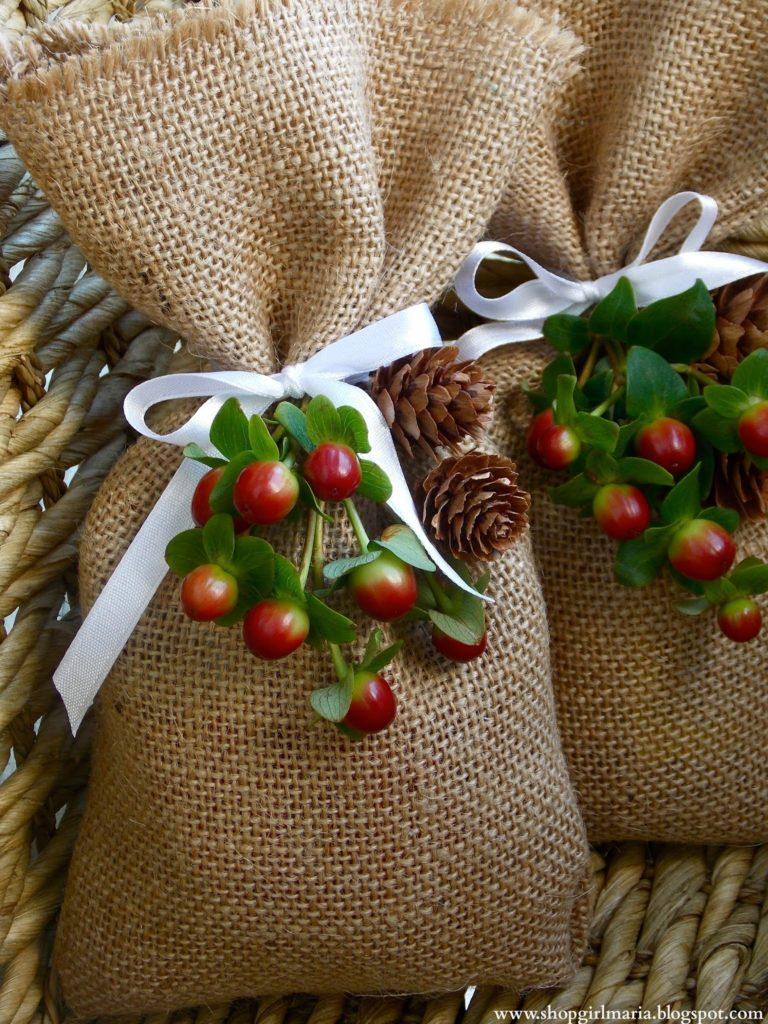 How to make Burlap Goodie Bags
