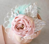 How to make Newborn Baby Headbands With Flowers
