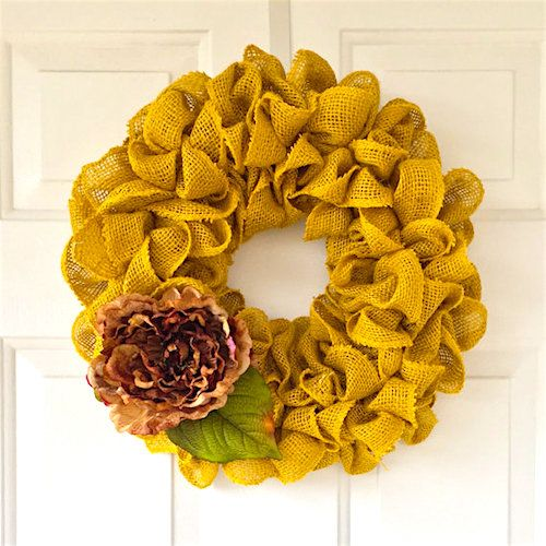 How to make Spring Burlap Wreath