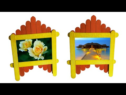 Ice Cream Stick Photo Frame Craft Ideas