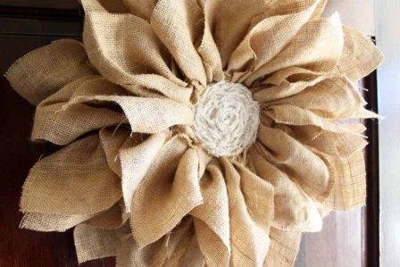 Large Burlap Flowers DIY