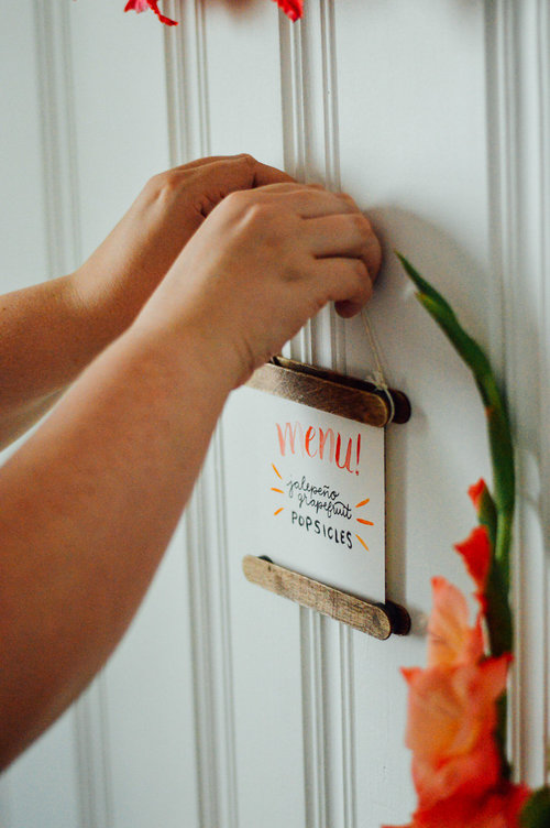 Large Popsicle Stick Frames DIY