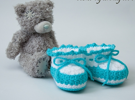 Learn To Crochet Baby Booties