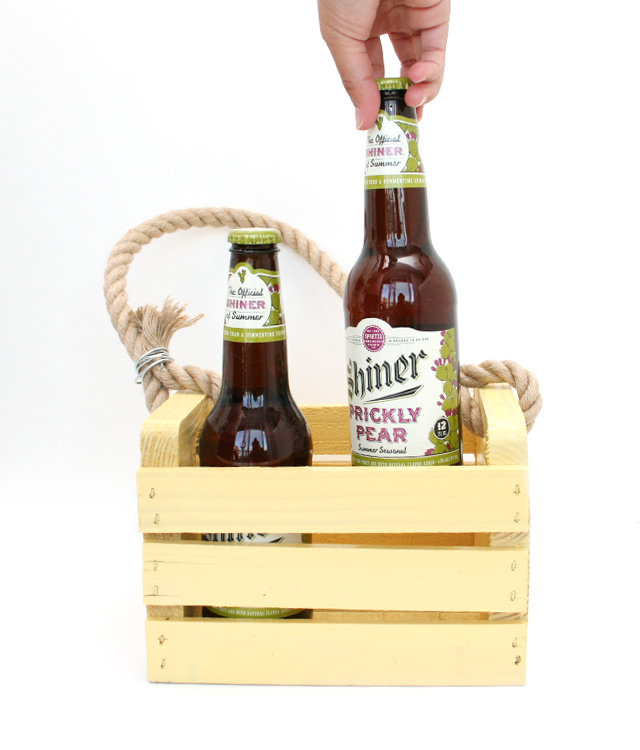 Make a Rustic Beer Caddy