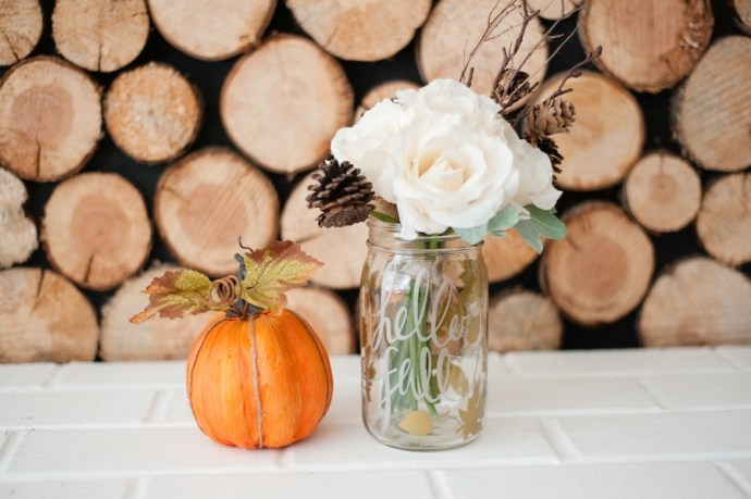 Mason Jar Fall Flower Arrangements