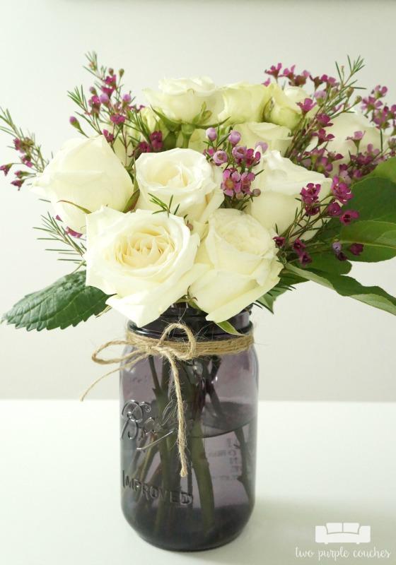 Mason Jar Flower Arrangements Vintage