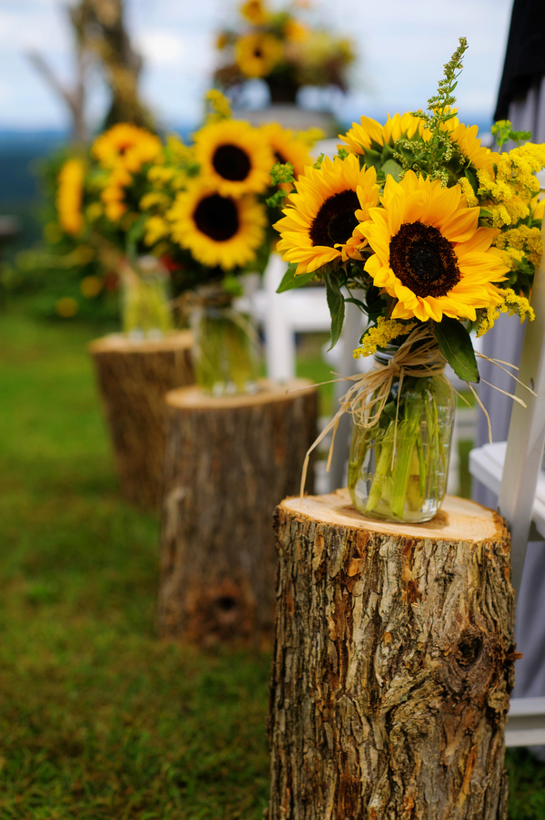 Mason Jar Flower Arrangements With Sunflower Ideas