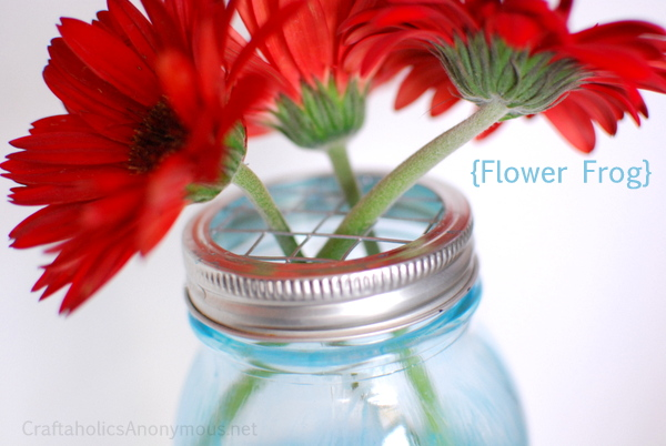 Mason Jar Lids For Flower Arrangements Ideas