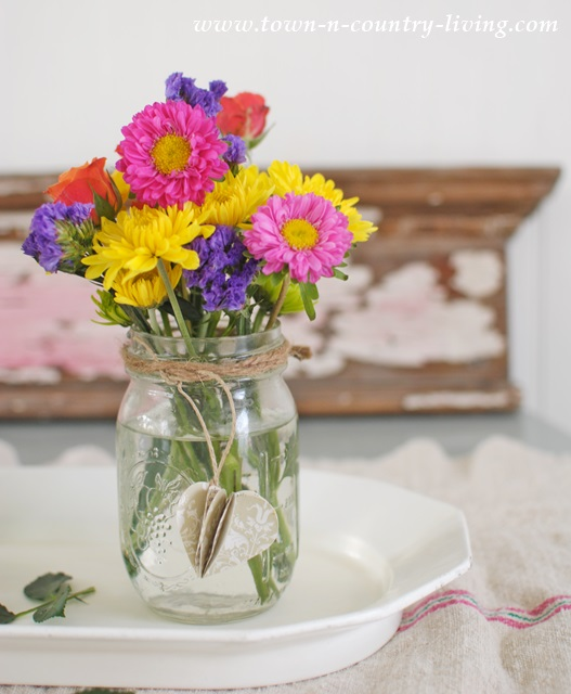 Mason Jar Spring Flowers Arrangement Ideas