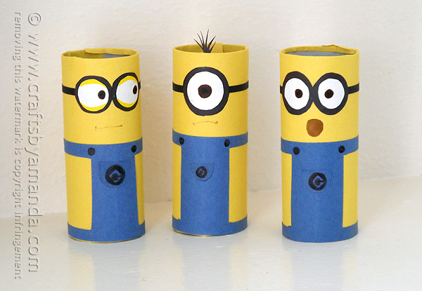 Minion Toilet Paper Roll Craft DIY Tutorial