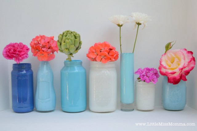 Painted Mason Jar Flower Arrangements Ideas