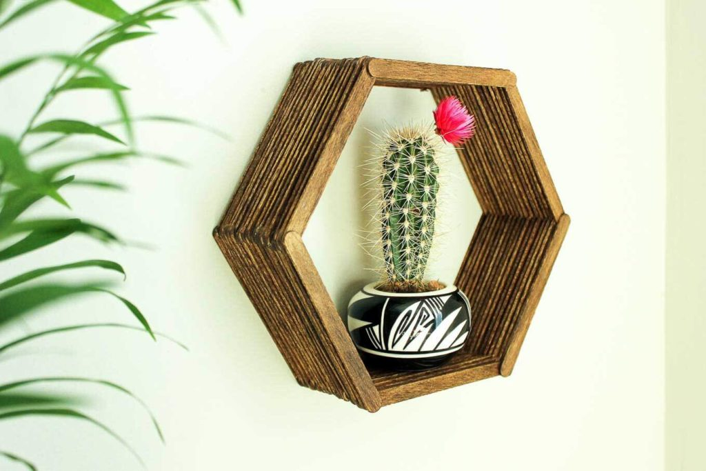 Popsicle Stick Frame Wall Art DIY