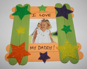 Popsicle Stick Frames For Father's Day DIY Craft