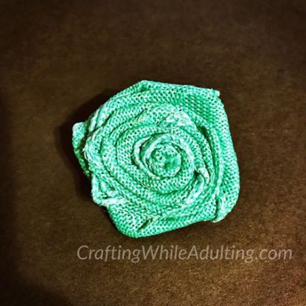 Rolled Burlap Flower Tutorial