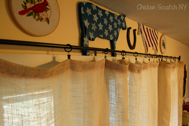 Rustic Burlap Curtains DIY Ideas