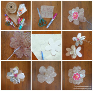 Simple Burlap Flowers