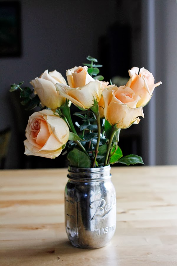 Simple Mason Jar Flower Arrangements