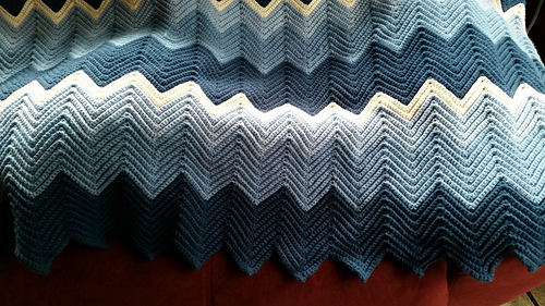 Single Crochet Ripple Afghan Pattern
