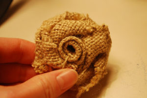 Small Burlap Flowers