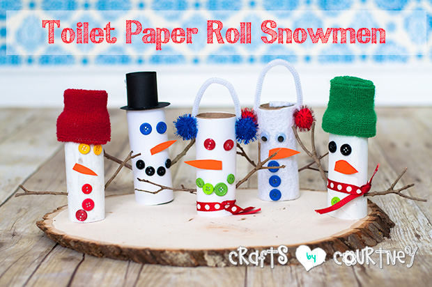 Snowman Toilet Paper Craft Ideas