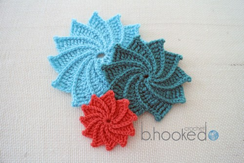 Spiral Crochet Flower Patterns